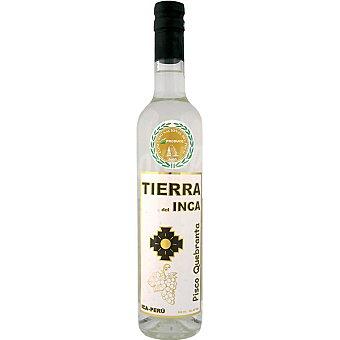 TIERRA DEL INCA ron blanco destilado mosto pisco quebranta Ica-Perú Botella 50 cl