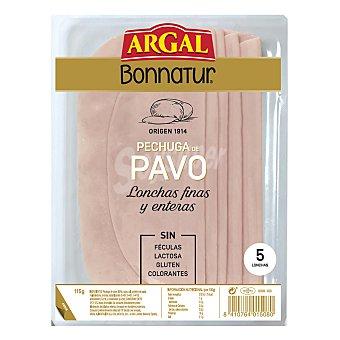 Bonnatur Argal Pechuga de pavo finas lonchas Envase 125 g