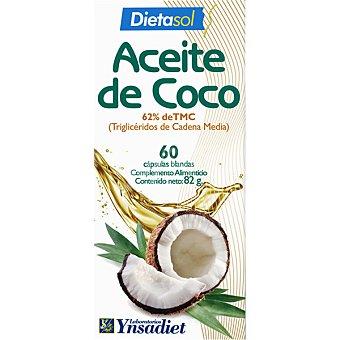 YNSADIET Dietasol Aceite de coco favorece la pérdida de grasa 60 perlas envase 85 g Envase de 85 g