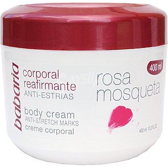 Babaria Rosa mosqueta crema reafirmante anti-estrias tarro 400