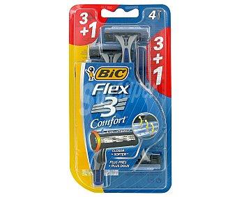 Bic Maquinilla de afeitar desechable, triple hoja 4 unidades