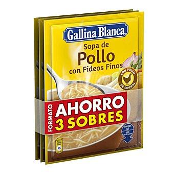 Gallina Blanca Sopa de pollo con fideos finos Pack de 3x71 g