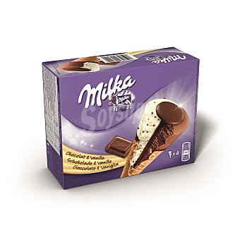 MILKA conos de chocolate y vainilla estuche 400 ml 4 uds