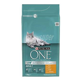 Purina One Comida para gato Adulto rico en Pollo y Cereales integrales Bolsa 1.5 kg
