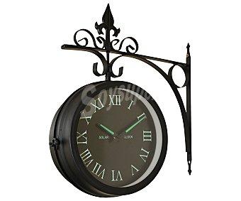 PROFILINE Reloj metálico de pared de doble cara, con números romanos de color verde fluorescente y esfera de 20 centímetros. Medidas: 32x37x11 centímetros 1 unidad