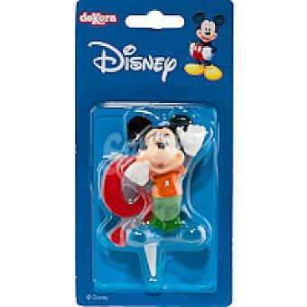 DEKORA Vela familia Disney Nº9 1 unidad