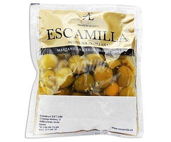 Escamilla Aceitunas verdes manzanilla sin hueso bolsa de 80 grs