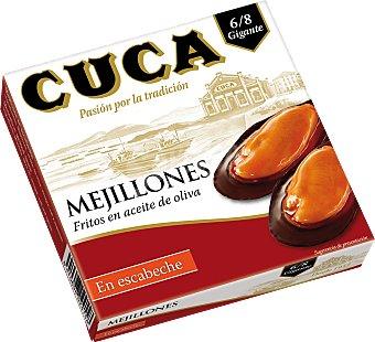 Cuca Mejillones en escabeche con aceite de oliva sin gluten y sin lactosa 69 G 69 g