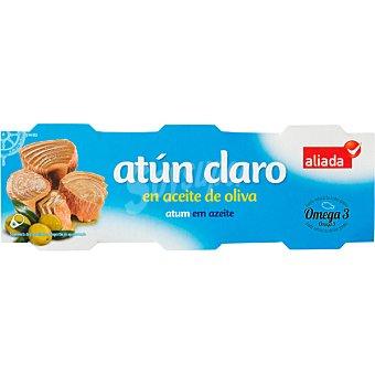 ALIADA Atún claro en aceite de oliva  Pack 6x52 g neto escurrido