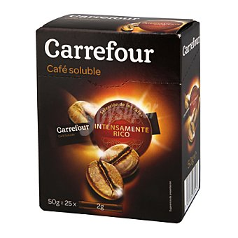 Carrefour Café soluble natural Pack de 25x2gr
