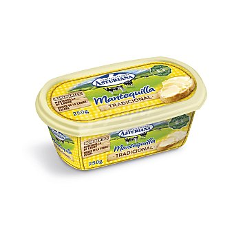 Central Lechera Asturiana Tarrina de mantequilla sin sal 250 g