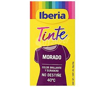 Iberia Tinte para ropa color morado Caja 1 ud