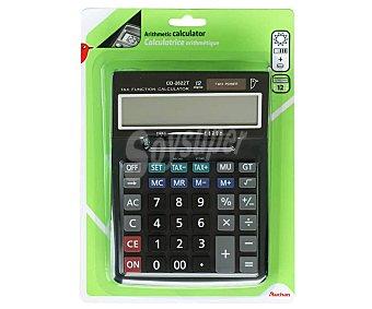 PRODUCTO ALCAMPO CD-2622T Calculadora aritmética con pantalla de 12 dígitos, doble alimentación solar y pilas CD-2622T