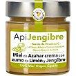 Apiterapia miel de azahar en crema con zumo de limón y jengibre tarro 300 g tarro 300 g La obrera