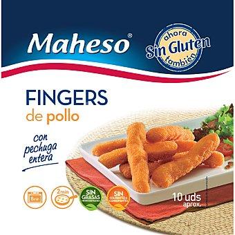Maheso Finger de pollo con pechuga entera sin gluten Bolsa 300 g