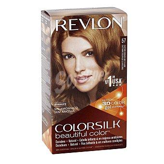 Revlon Color Silk Tinte Castaño Dorado muy claro nº 57 permanente y sin amoniaco Caja 1 unidad