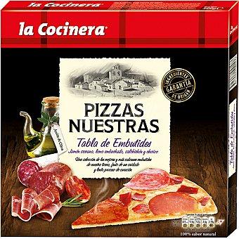 La Cocinera Pizza con jamón serrano lomo salchichón y chorizo Nuestras Pizzas Tabla de Embutidos Estuche 300 g