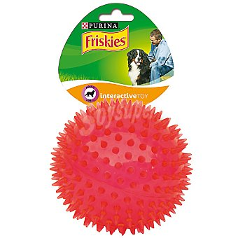 Friskies Purina Juguete para perro interactivo bola pinchos para perros grandes  1 unidad