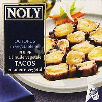 Noly Tacos de Calamar en Aceite Vegetal 63 Gramos