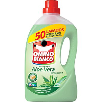 Omino Bianco Detergente líquido aloe vera Botella 33+17 dosis