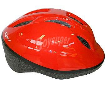 CUP´S Casco infantil color rojo liso, ajustable de la talla 48 a la 54 1 Unidad