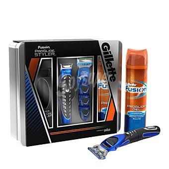 Gillette Pack maquinilla Fusion Proglide Styler + gel + caja 1 ud