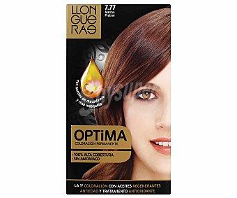 Llongueras Tinte nº 7.77 Marrón Praliné Optima con Aceites de Macadamia y Rosa de Mosqueta 1 ud