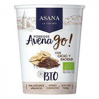 Baobab Cereales de avena con cacao y ecológicos Avena Go Asana 55 G 55 g