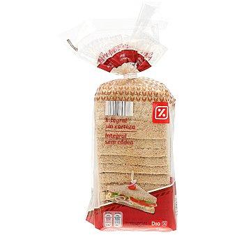 DIA Pan de molde integral sin coteza Bolsa 450 gr