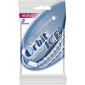 Orbit Menta polar chicle sin azúcar Ice Pack 3 envase 14 g