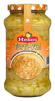Helios Preparado para tortilla de patata con cebolla Frasco 390 g neto escurrido