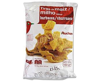 Auchan Tiras de maíz sabor a barbacoa 150 Gramos