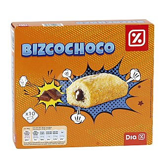 DIA Bizcochoco relleno de chocolate Bolsa 300 gr