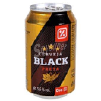 DIA cerveza negra  lata 33 cl