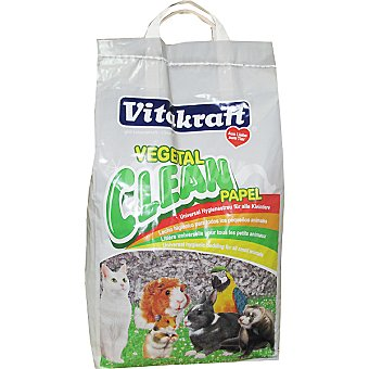 VITAKRAFT CLEAN PAPEL Lecho higiénico universal para todos los pequeños animales bolsa 10 l Bolsa 10 l