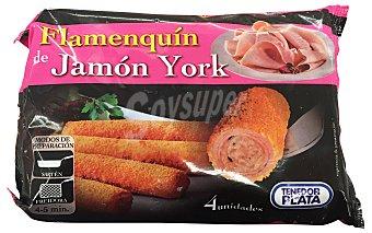 TENEDOR PLATA Flamenquin jamón curado congelado  Paquete de 4 uds