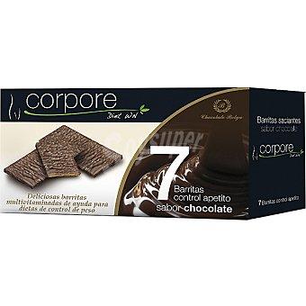 CORPORE DIET Barritas saciantes multivitaminadas sabor chocolate Envase 160 g