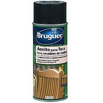 BRUGUER Aceite para teca incoloro para muebles de madera Spray 400 ml
