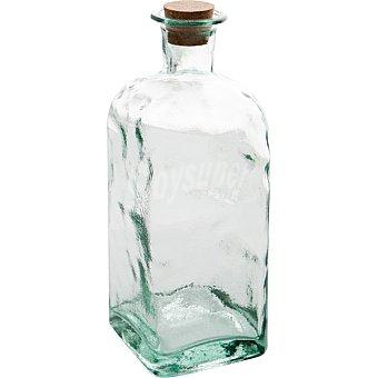 QUID Bari Frasco Cuadrado de vidrio con tapón de corcho 1 l