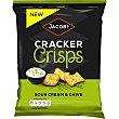 Crackers crujientes con sabor a crema agria y cebollino Paquete 150 g Jacob's