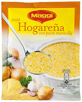 Maggi Sopa hogareña con pasta Sobre 76 g
