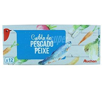 Auchan Caldo de pescado 12 unidades 128 gramos