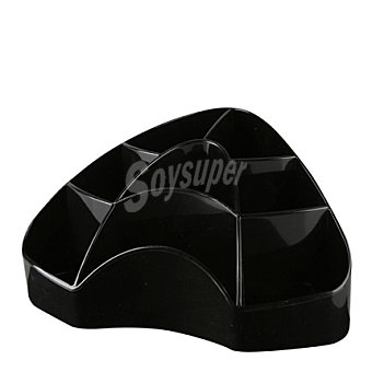 Carrefour Organizador de escritorio + 8 compartimentos negro 1 ud