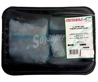 Crestaola Bandeja con lomo de merluza congelado sin piel 1000 gramos aproximados