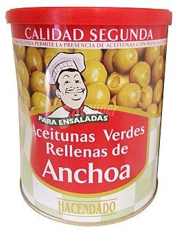 Hacendado Aceituna rellena anchoa ensalada C/ tapa Lata 830 g escurrido