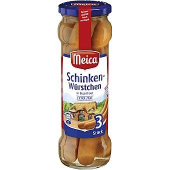 Meica Salchichas cocidas sin piel frasco 130 g neto escurrido 3 unidades