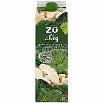 Zü Premium Bebida de manzana-espinaca-brócoli &vëg Brik 1 litro