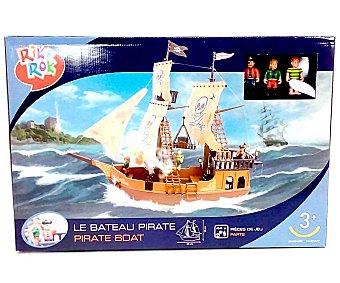 RIK & ROK Barco Pirata con 3 Aventureros Piratas 1 Unidad