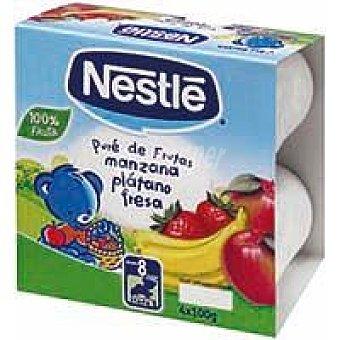 Nestlé Puré de frutas con manzana desde 6º mes Pack 4x100 g