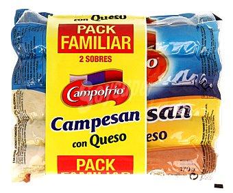 CAMPOFRÍO Salchicha Campesan con Queso 2 Sobres de 170 Gramos